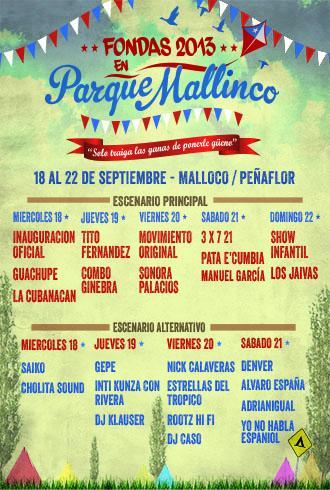 FONDAS 2013 EN PARQUE MALLINCO